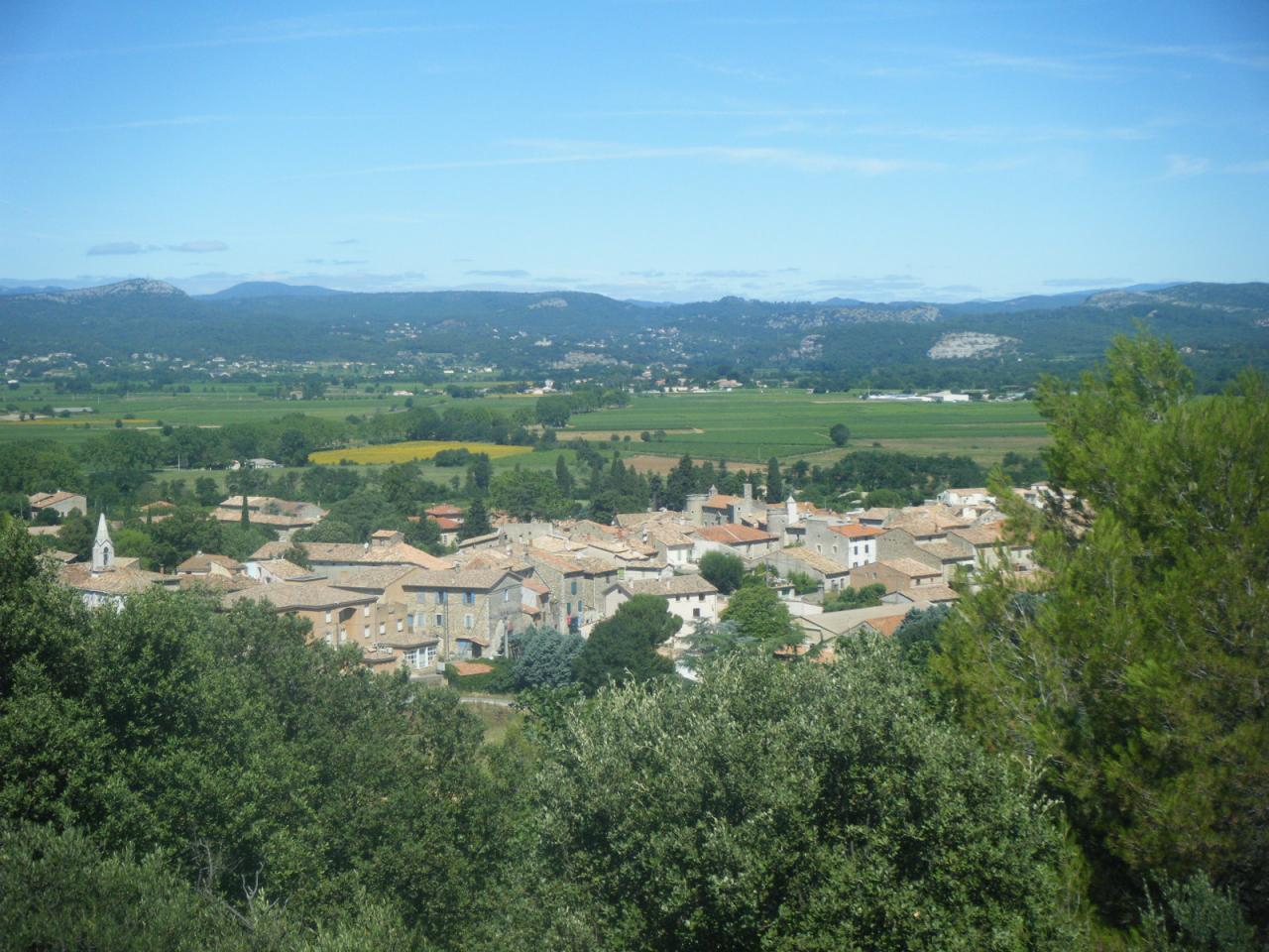 vue du village de Lézan